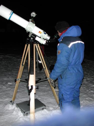 Esben observerer i -20°C