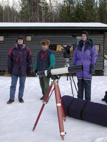 Torsten, Jan og Mark m/TeleVue 101 og ETX90