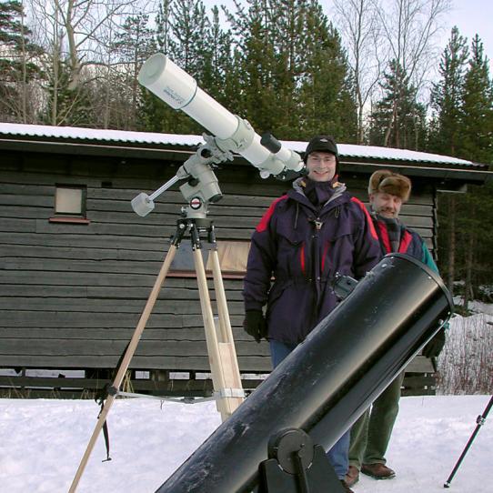 Torsten og Jan m/Takahashi FS-102 og Orion SkyQuest XT10