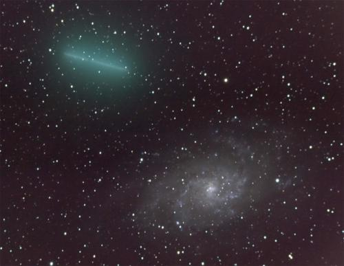 Komet 8P/Tuttle passere foran M 33 - 30.12.2007